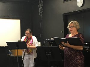 Dr. Yasmin Flores and Dr. Colleen Jennings performing Drei Lieder