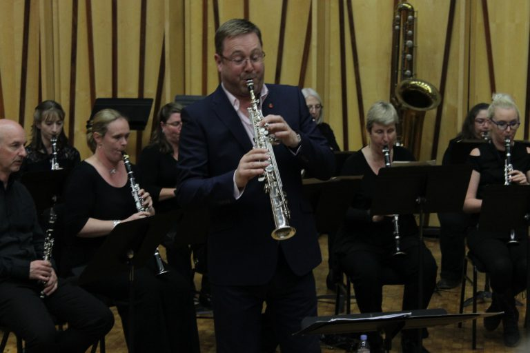 Rob Buckland with the British Clarinet Ensemble
