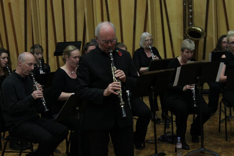David Campbell with the British Clarinet Ensemble