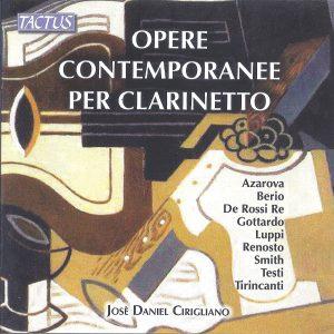 Jose Daniel Cirigliano Opera Contemporanee per Clarinetto