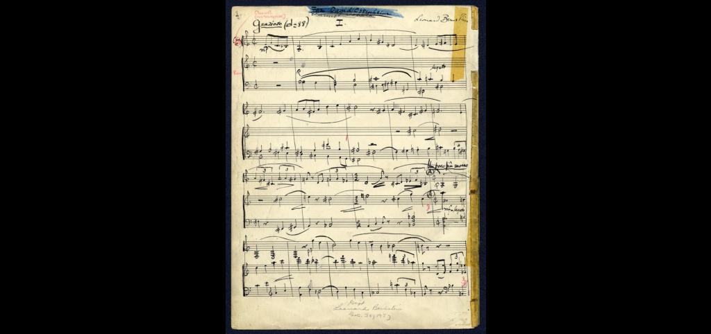 Example 1: Bernstein Sonata, Mvt. 1, page 1 of manuscript