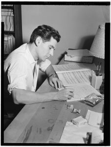Portrait of Leonard Bernstein in his apartment, New York, N.Y., between 1946 and 1948 (photo by William Gottlieb)