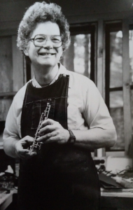 Scott smiles while repairing an oboe (Interlochen Music Camp - 1972)