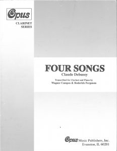 Debussy Four Songs