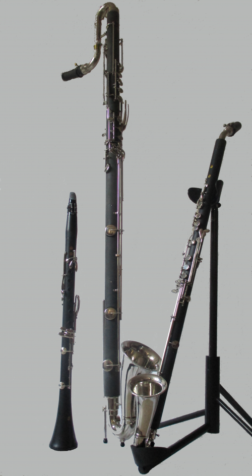 Left to right: BP soprano, contra and tenor clarinet (Photo by Nora L. Müller)