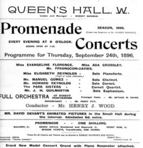 Figure 2. Promenade Concert program, September 24, 1896. Gómez family archive, Toronto, Canada.