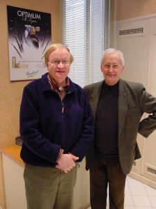 ICA Editor Emeritus James Gillespie with Guy Deplus
