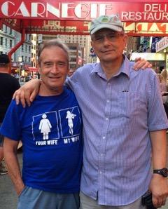 Jim Ognibene (Right) with Gene Kavadlo (Left)