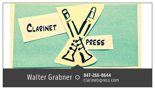 Walter Grabner's ClarinetXpress